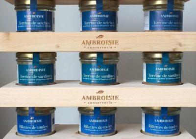 produits de la conserverie Ambroisie